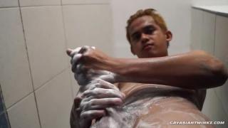 Str8 Asian Boy Willy Wanks Off