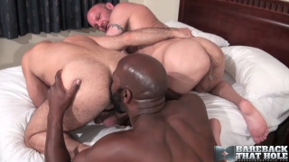 Cutler X, Adam Russo and Chad Brock at bareback that hole