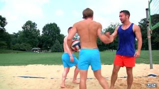 Colt Rivers, Owen Michaels, Tom Faulk in bump