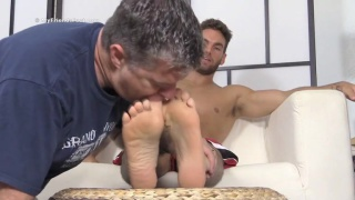 ped freak worships chase's sexy feet