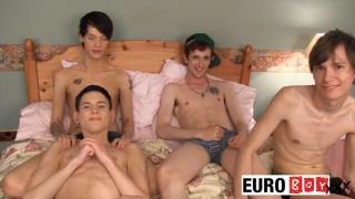 Gangbang Challenge Part 3 at euro boy xxx