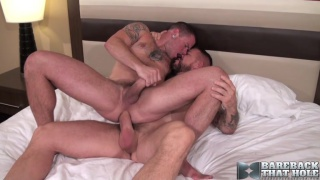 Rocco Steele and Max Cameron at bareback that hole