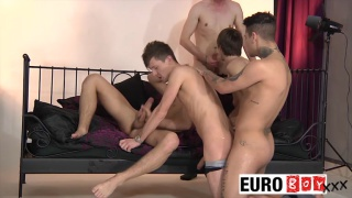 Mickey Taylor in 5-guy orgy at euro boy xxx