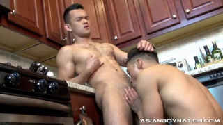 santiago and eli lewis at asian boy nation