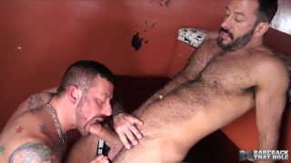 Hugh Hunter and Vinnie Stefano at bareback that hole