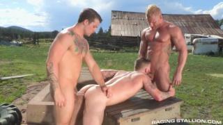 Chris Bines, Johnny V and Sebastian Kross at Raging stallion