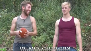 Oregon Roommates Chuck & Chris Bare ALL at island studs