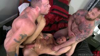 Sean Duran, Matt Stevens and Derek Parker at Men Over 30
