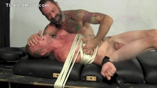 blond JASON at tickled hard