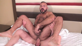Rocco Steele and Alessio Romero at bareback that hole