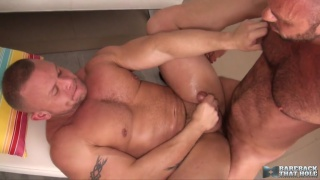 Matt Stevens and Daxton Ryker at bareback that hole