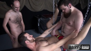 Stuffing Phil Mehup at hairy and raw