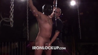 sir whips Mr. Kristopher's ass at iron lockup