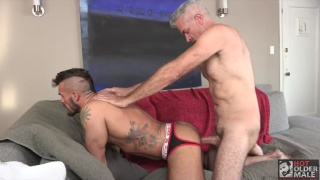 Derek Anthony and Aarin Asker at Hot Older Male