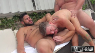 Lanz Adams, Randy Taintmoore and Gunner Scott at hairy and raw