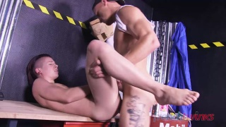 chris loan and angel diaz at french twinks