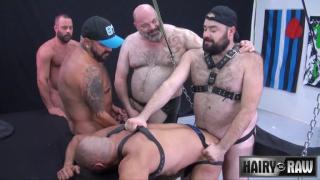 Sling Gang Bang Part 3 at hairy and raw