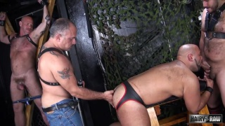 Jay Ricci, Luis Casola, Billy Davis, and Lanz Adams at Hairy and Raw