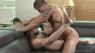 Bryce Evans and Marcus Isaacs at Men over 30