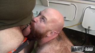 Tate Taylor and Scott Locke at hairy and raw