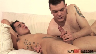 Matt Richie and Michael Davenport at hard brit lads
