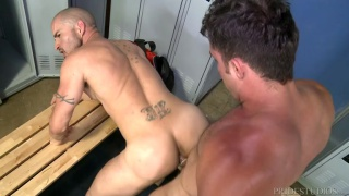 Armando De Armas and Alex Torres at Men Over 30