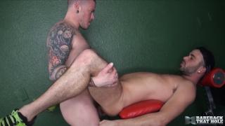 Alex Mason and Max Cameron at bareback that hole