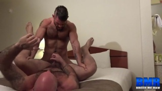 Aarin Asker and Victor West at breed me raw