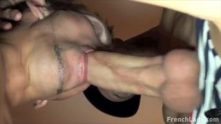 Struggling To Take His Massive Cock
