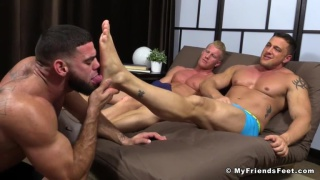 Johnny V  and Joey D at my friends' feet
