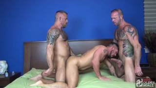 Vic Rocco, Jon Galt and Aarin Asker at Hot Older Male