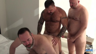 Guy English, Marc Angelo, and Joe Hardness at bear films