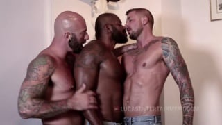 Rod Beckmann, Drew Sebastian, And Dolf Dietrich at Lucas Entertainment