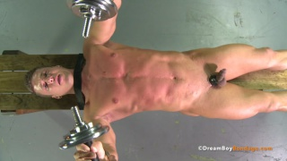 Neill's naked workout at dreamboy bondage