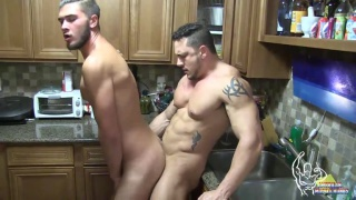 Justin Dean & Joey D at american muscle hunks