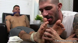 Johnny Hazzard and Caleb Troy at my friends' feet