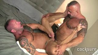 Vic Rocco and Jon Galt Bareback at cocksure men