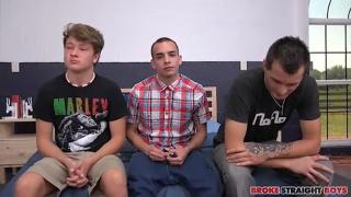 Brody, Jaxon And Justin 3 Way at broke straight boys