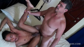 Javey Eats Daddy's Cum at Daddys Asians