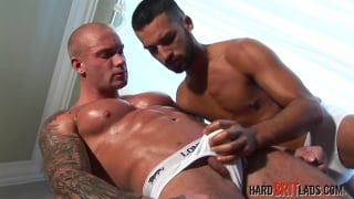 Lee Tyler and Ben Grey at hard brit lads
