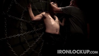 sir leads puppy to the spider web at iron lockup