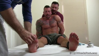 Hugh Hunter Tickled at my friends' feet