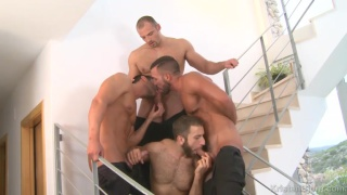 4-man orgy at kristen bjorn