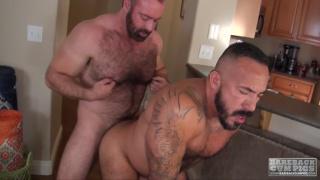 Brad Kalvo and Alessio Romero at bareback cum pigs