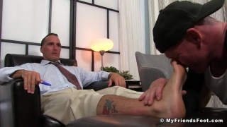 Sebastian Steele & Dev at my friends' feet