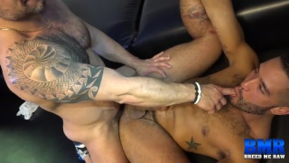 Russ Magnus and Trey Turner at breed me raw