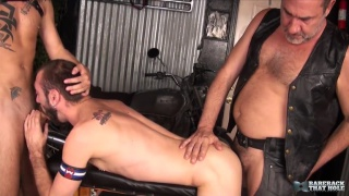 Ethan Palmer, Justin Case & Victor Cody at Bareback That Hole