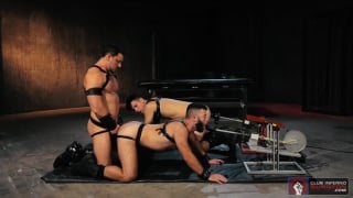 Gage Lennox, Joey D & Issac Lin at Club Inferno