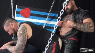 Marc Angelo and Adam Knocksville at hairy and raw