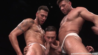 FX Rios, Bruce Beckham and Josh Conners at Raging Stallion